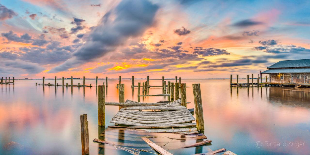 Fernandina Beach, Amelia Island, Florida, Dock, Sunset