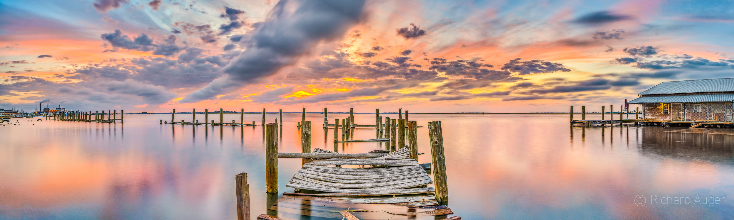 Fernandina Beach, Amelia Island, Florida, Dock, Sunset