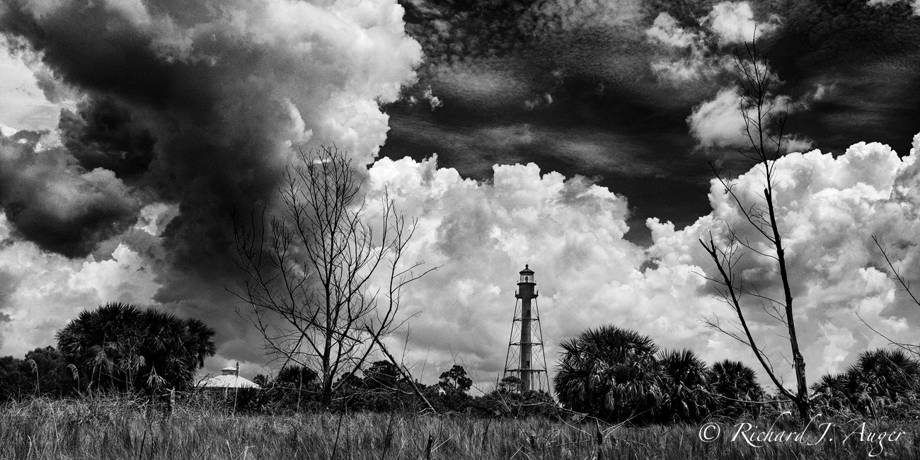Aneclote Key Lighthouse, Pasco County, Florida by Richard Auger