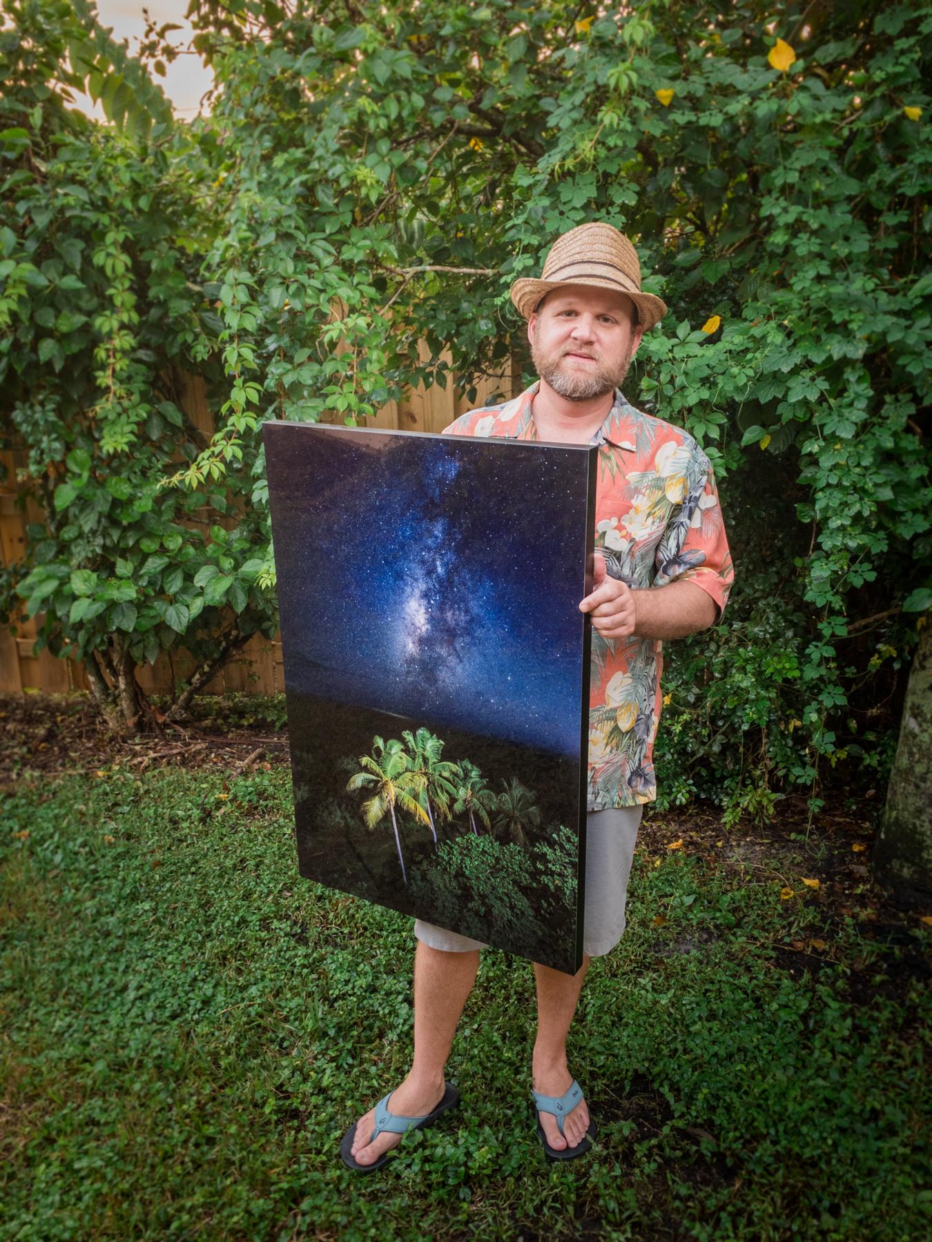 Richard Auger Holding Metal Bahia Print