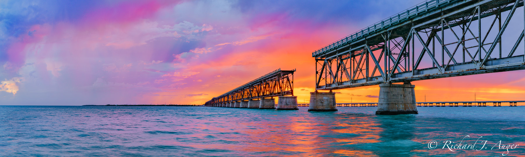Bahia Honda Bridge, Florida Keys, Photograph, Photographer, Photo, Landscape, Sunset, Ocean, Brilliant