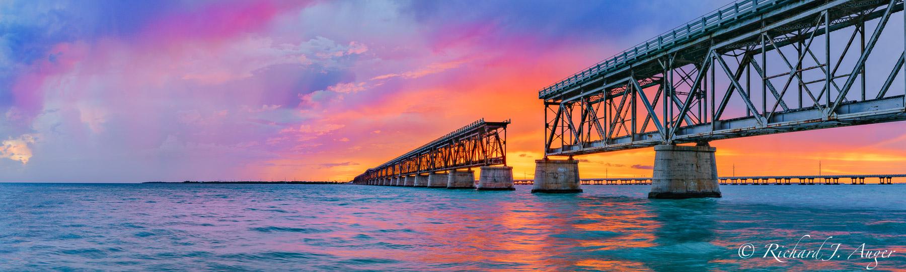 Bahia Honda Bridge, Florida Keys, Photograph, Photographer, Photo, Landscape, Sunset, Ocean, Brilliant