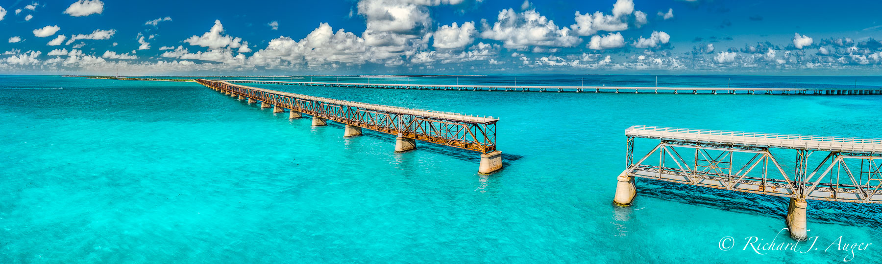 Bahia Honda, Bridge, Florida Keys, Blue, Aerial, Drone