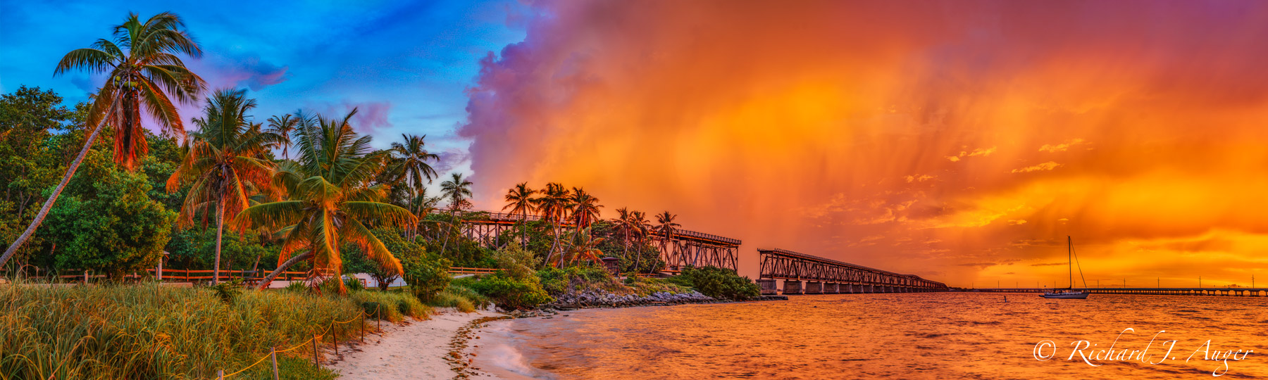 Bahia Honda Bridge, Florida Keys, State Park, Photograph, Landscape, Sunset, Ocean
