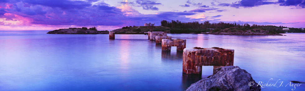 Bermuda, Railway, Southhampton Parish, Sunset, Abandoned, Railroad, Historic, Purple