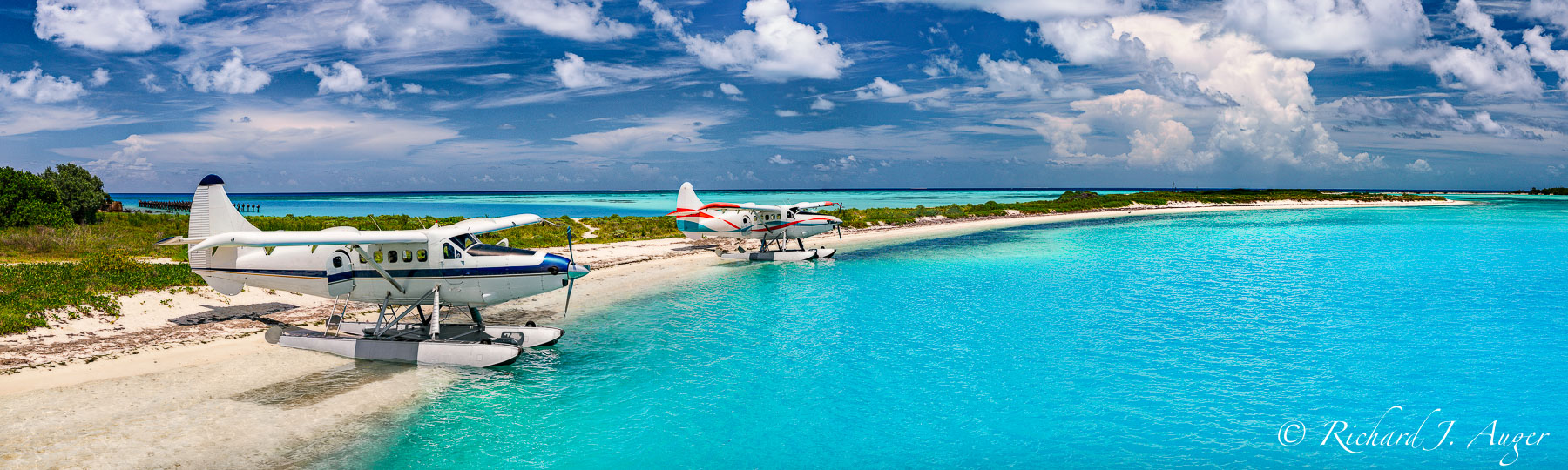 Dry Tortugas National Park, Sea Planes, Island, Ocean, Blue, Getaway, Tropical, Panorama, Photograph, Photographer, Landscape