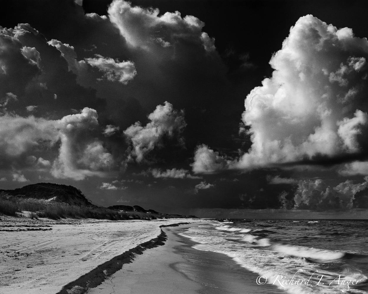 St Joe Peninsula State Park, Cape San Blas, Florida Panhandle, Beach, Remote, Black and White, Dunes, Storm, Waves, Clouds
