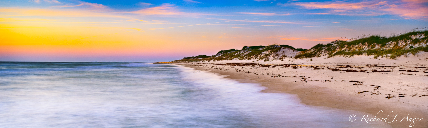 Cape San Blas, Florida, Beach, Sunset, Sunrise, Panorama, Panoramic, Photograph