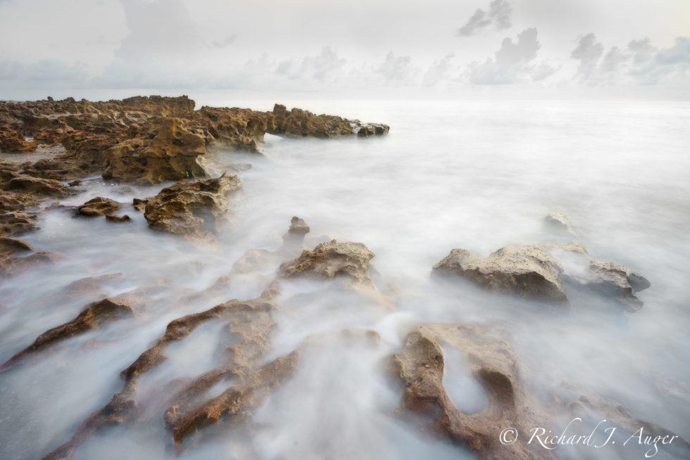 Coral Cove Park, Jupiter, Florida, Anastasia Limestone, Waves, Water, Beach