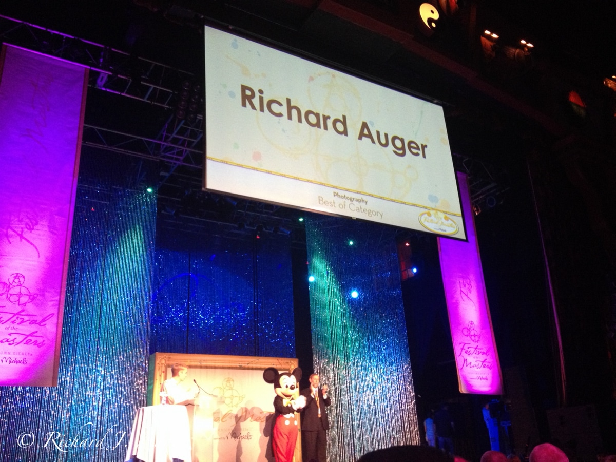 Disney Festival of the Masters 2013 Richard Auger 1st in Photography