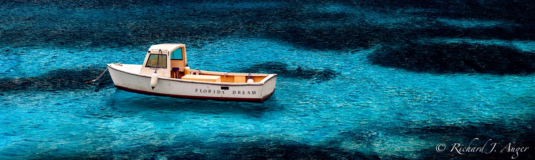 Florida Dream, Fishing Boat, Blue Water, Coastal
