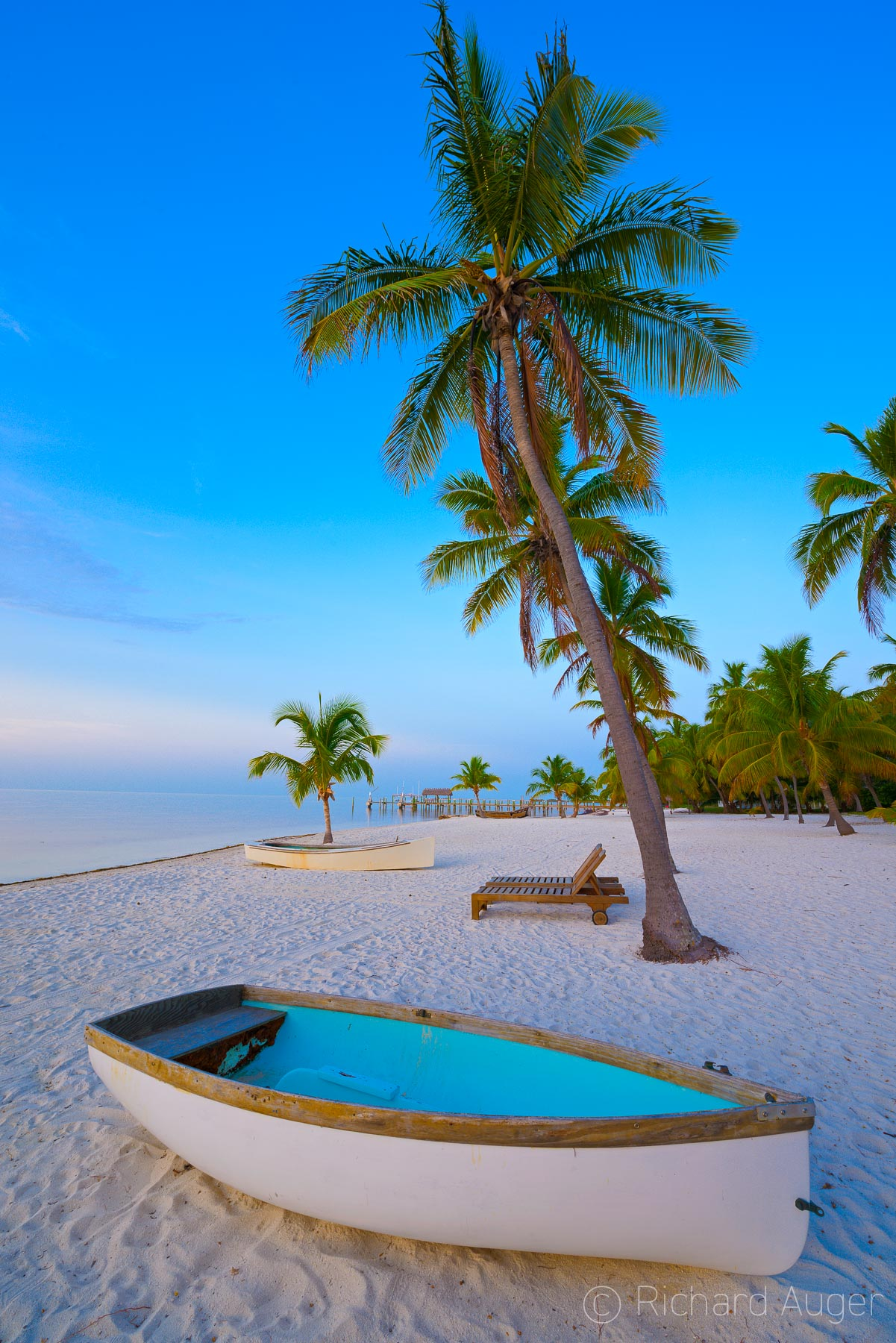 Islamorada, Florida Keys, Key West, Beach, Calm, Morning, Boat, Photograph, Richard Auger