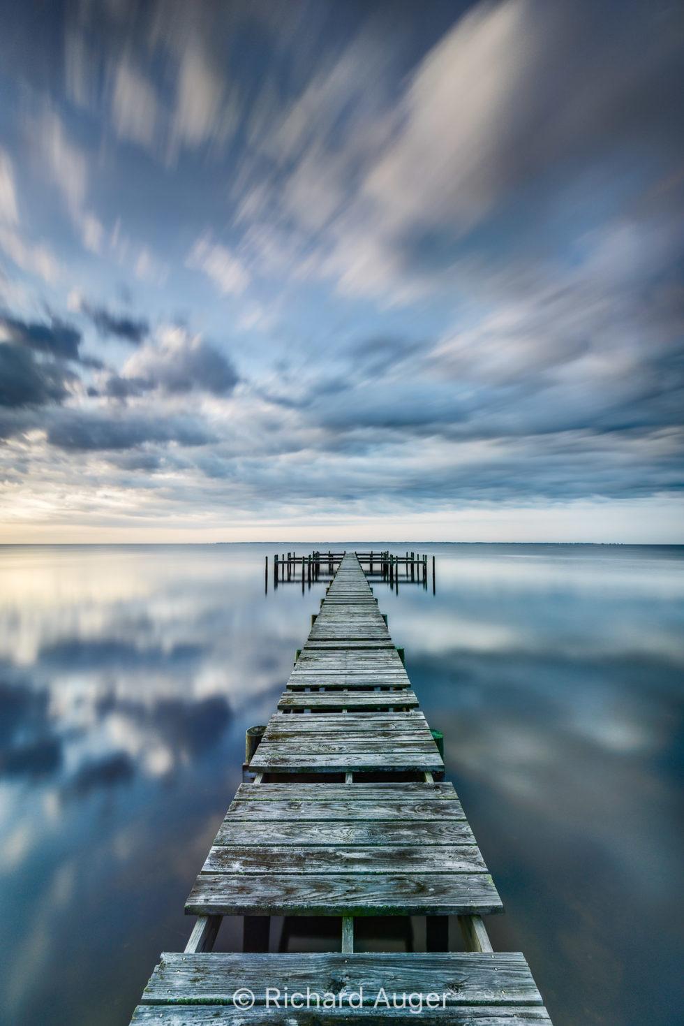 Panhandle, Florida, Jetty, Dock, Clouds, drama, Photograph