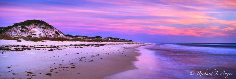 St Joe Peninsula State Park, Cape San Blas, Florida Panhandle, Beach, Sunset, Purples, Dunes, Ocean, Seascape, Panorama