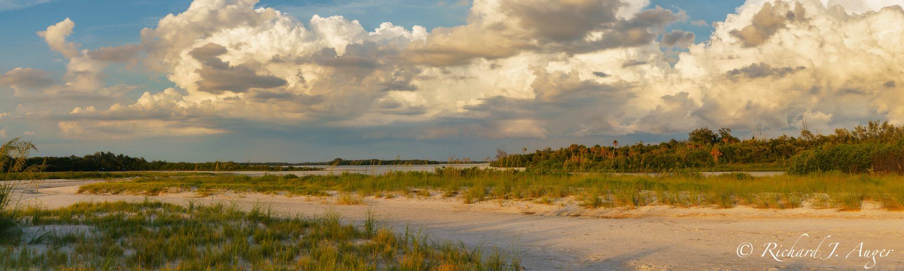 Fort De Soto Park, Florida, Pinellas County, St Petersburg, Tampa, Sand Dunes, Sunset, Clouds, Photograph, Photographer, Photo, Landscape, Richard Auger