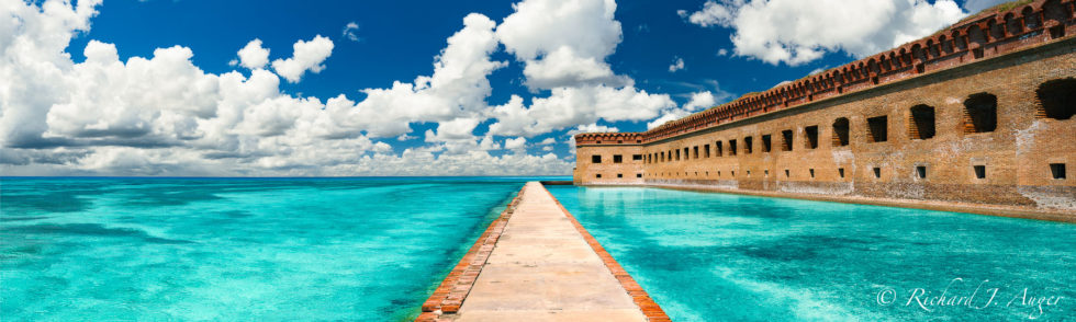 Dry Tortugas National Park, Fort Jefferson, Florida, Panorama, Fort, Ocean, Walkway, Moat, Photograph, Landscape, Photo, Photographer, Historic, Architecture