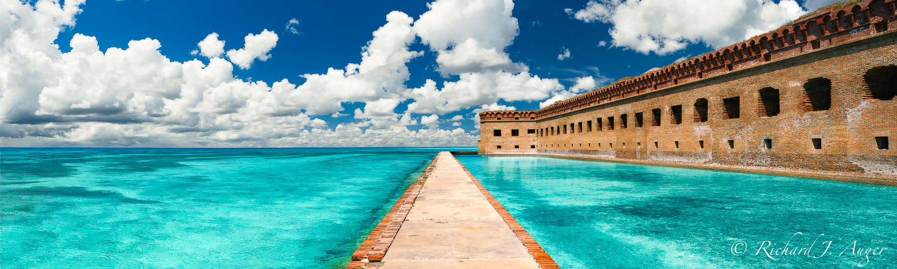 Dry Tortugas National Park, Fort Jefferson, Florida, Panorama, Fort, Ocean, Walkway, Moat, Photograph, Landscape, Photo, Photographer