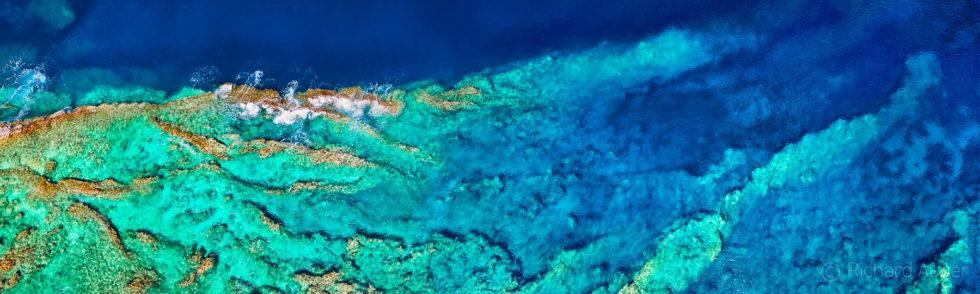 Hawea Point, Lahaina, Maui, Hawaii, Aerial, Drone, Panorama, Photograph, Abstract