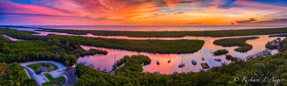 Hobe Sound, Boat Ramp, Jimmy Graham Park, Florida, Drone, Aerial, Photographer, Photograph, Sunrise, Colorful