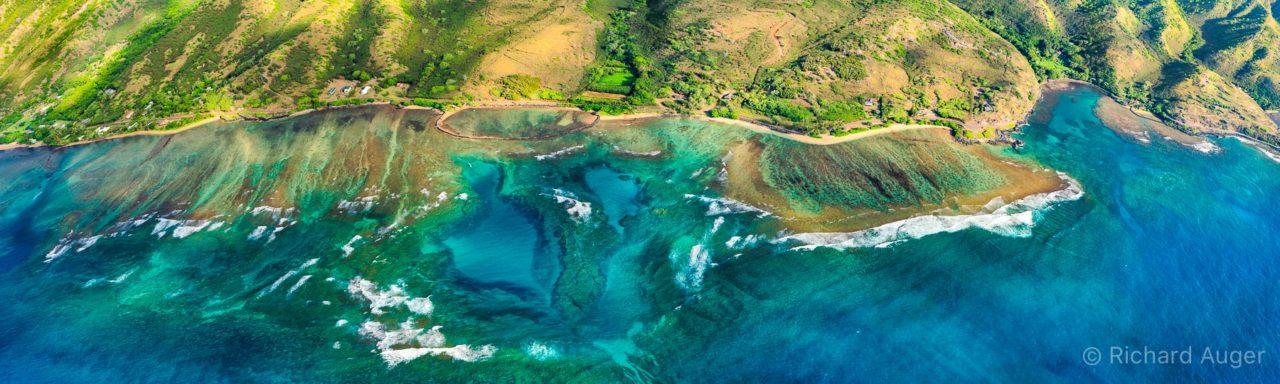 Molokai, East End, Panorama, Molokai, Aerial, Photograph, Maui, Ocean, Mountains