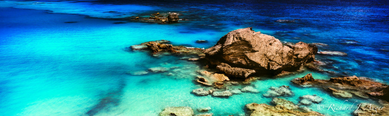 Horshoe Bay, Bermuda, Sapphire Cove, Rocks, Blue, Carribean