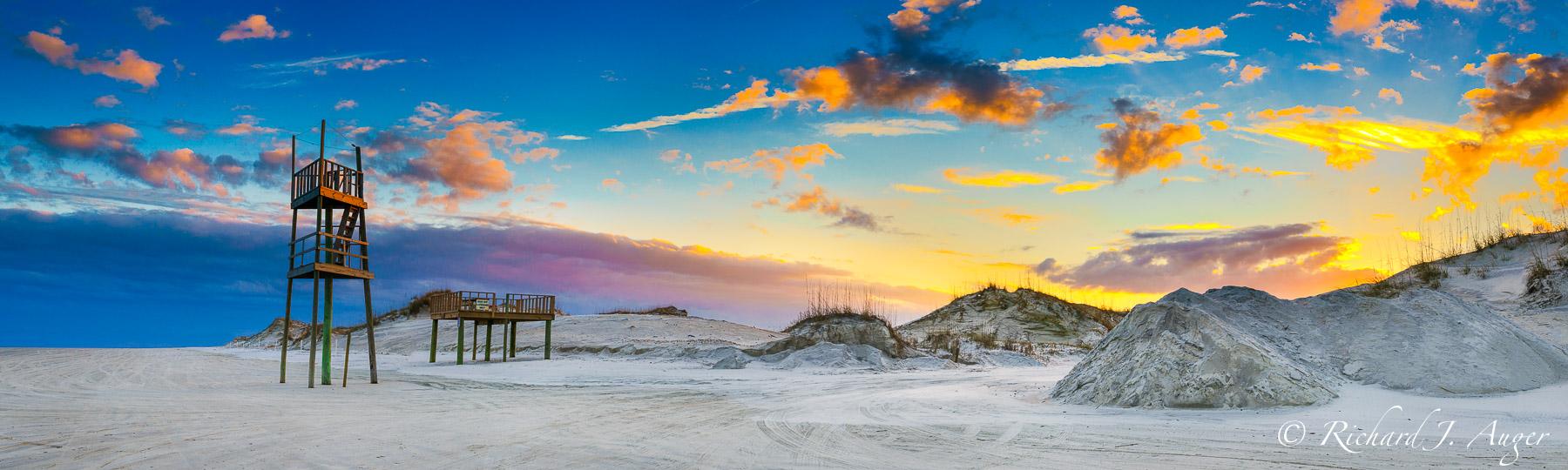 Florida, Sunset, Beach, Huguenot Park, Jacksonville