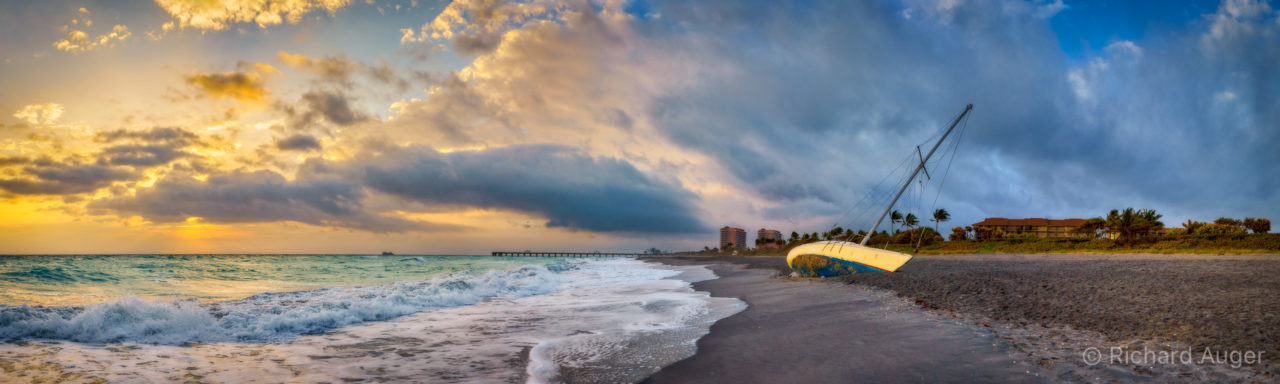 Shipwreck, Juno Beach, Florida, Storm, Morning