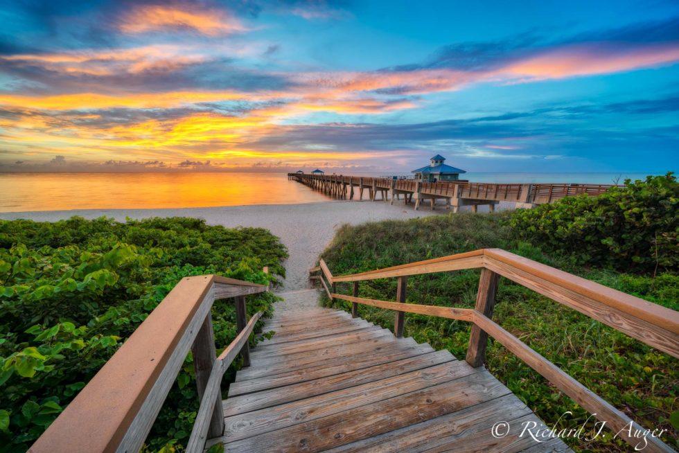 Juno Beach Pier, Florida, Landscape, Photograph, Sunrise, Morning, Beach, Ocean
