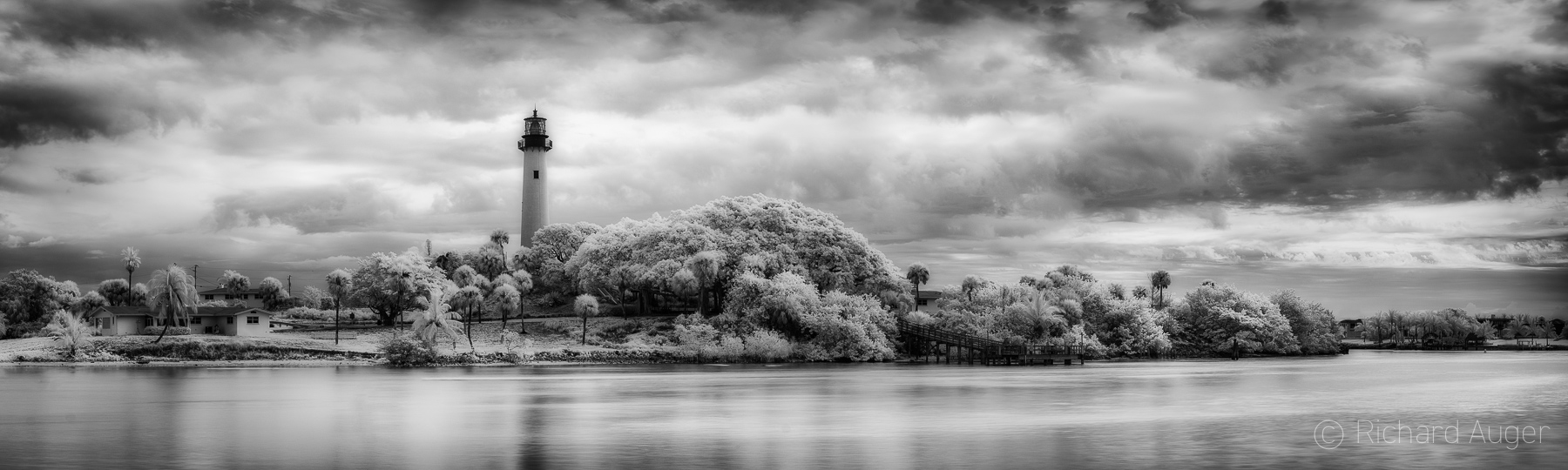 Jupiter Inlet Lighthouse, Florida, Palm Beach, coastal, sepia, lighthouse, storm, monochrome, landscape, photographer