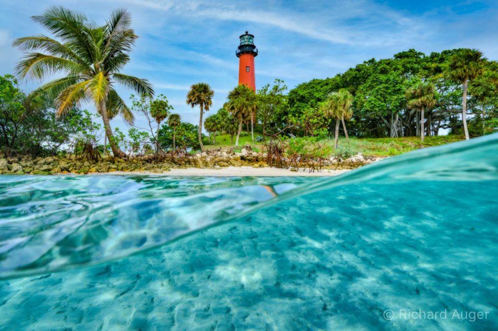 Jupiter Lighthouse, Florida, Underwater, Ocean, Intercostal, Inlet