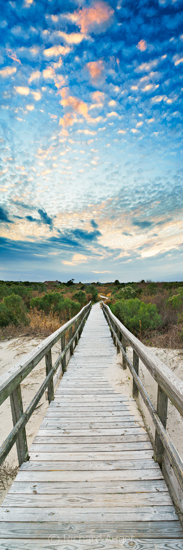 Little Talbot Island State Park, Florida, Amelia Island, Vertical Panorama, Sunset, Bridge, Entrance, Dunes, Sand