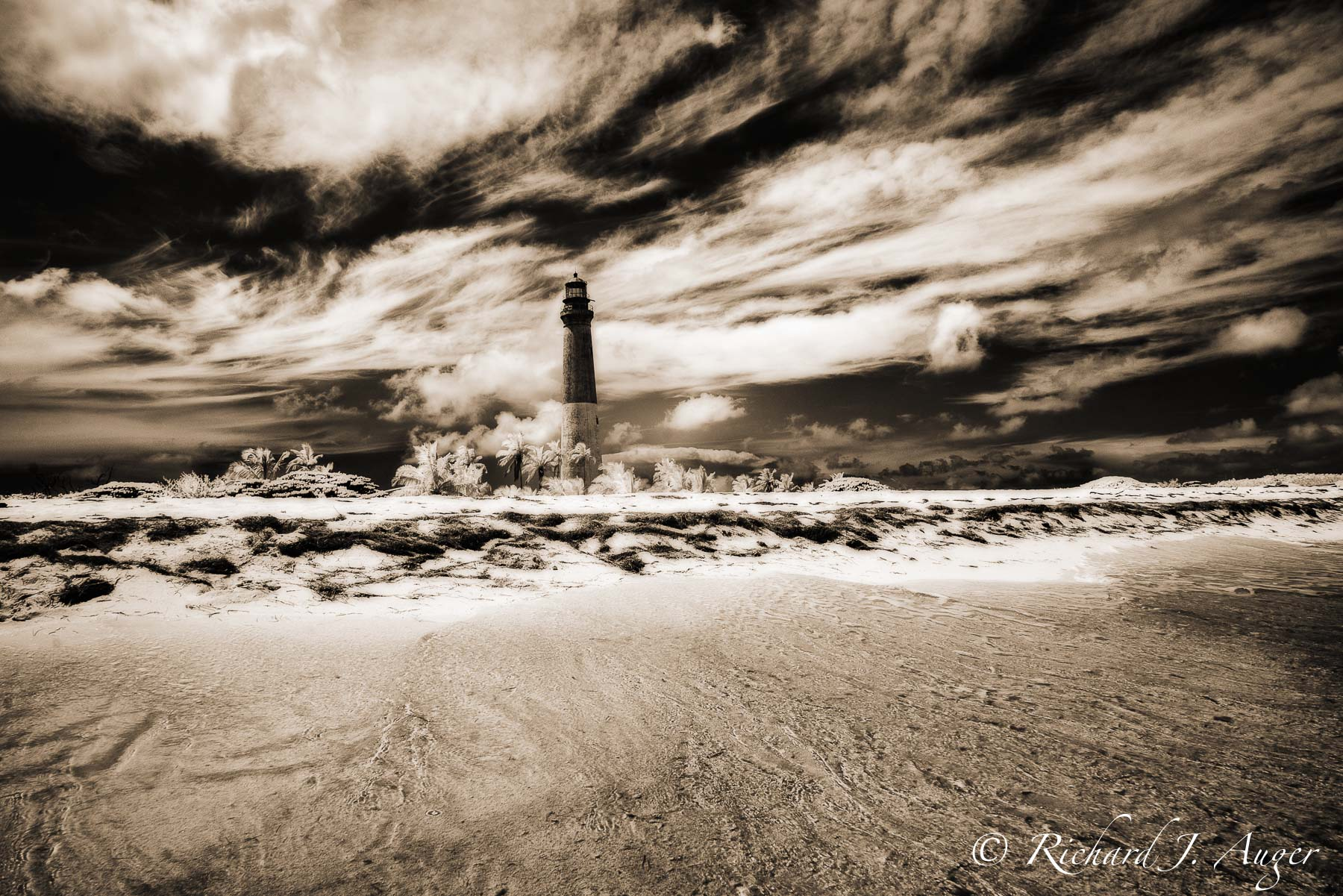 Loggerhead Lighthouse, Dry Tortugas National Park, Loggerhead Key, Storm, Water, Drama, Landscape, Photograph