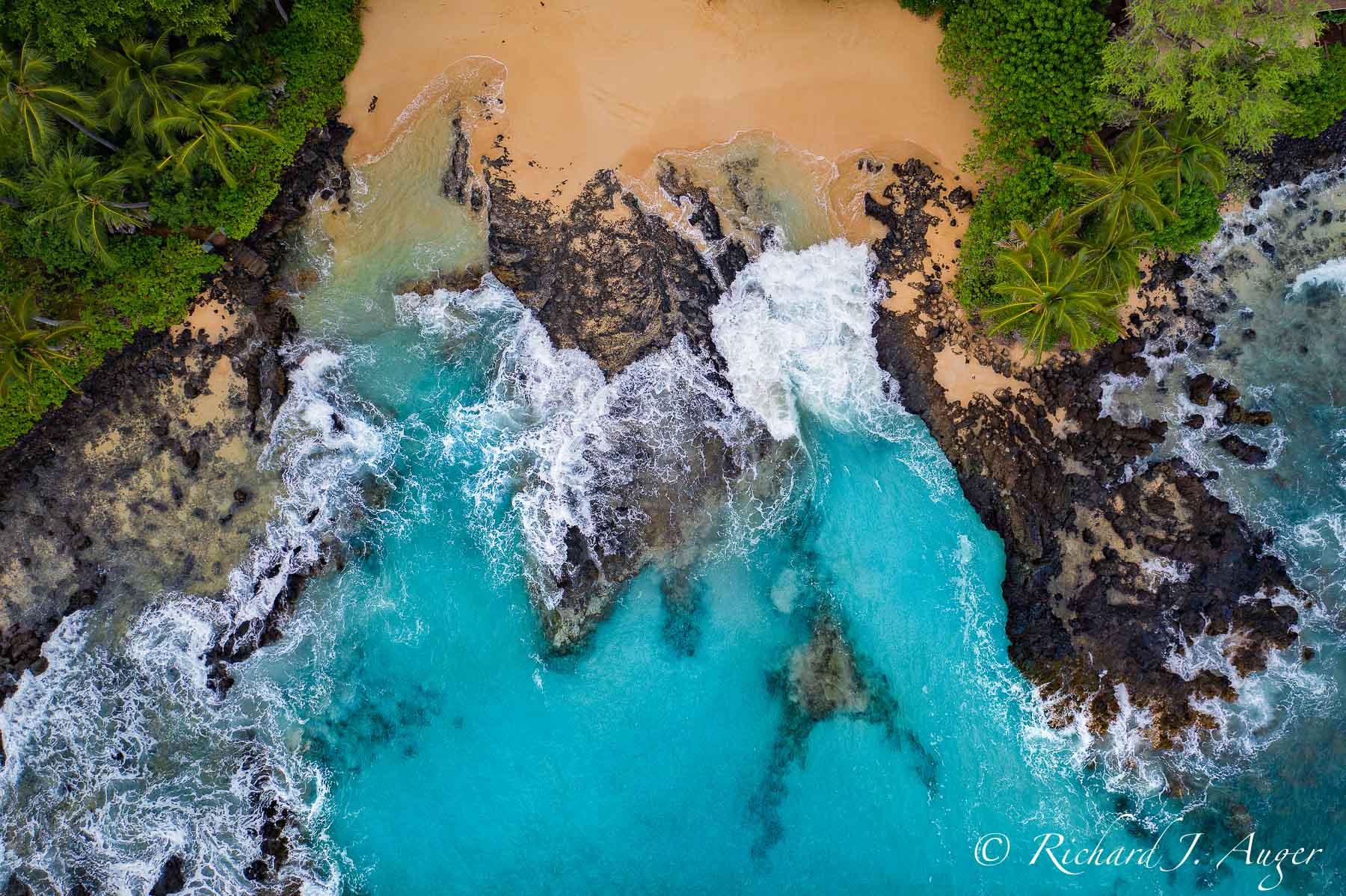 Maui, Makena Cove, Aerial, Drone, Photograph, Photographer, Blues, Ocean, Morning, Calm