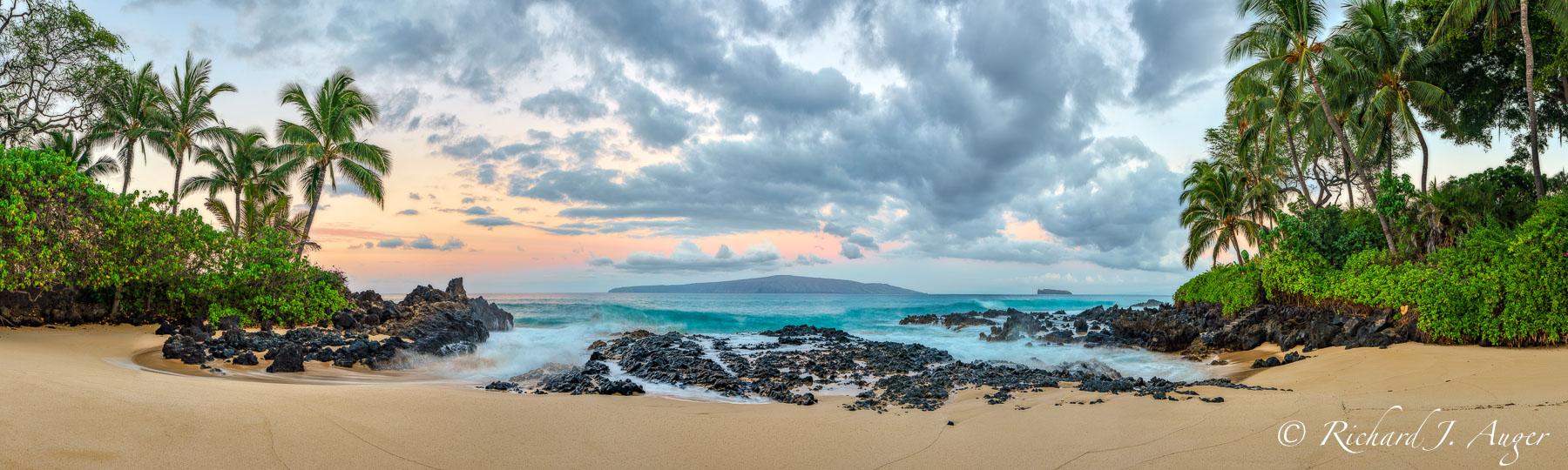 Maui, Hawaii, Cove, Beach, Sunrise