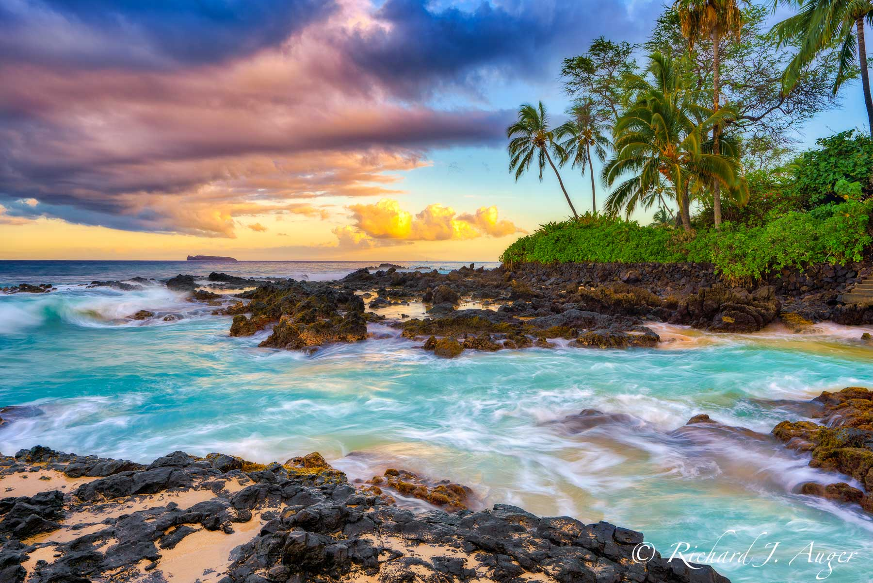 Maui, Makena Cove, Hawaii, Colorful, Photograph, Photo on Canvas