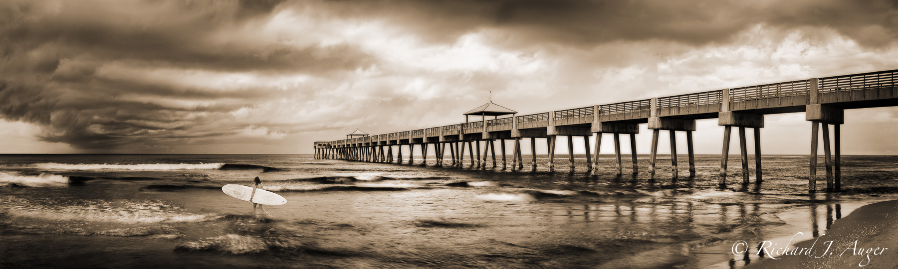 Juno Beach Pier, Florida, Palm Beach, Surfer Girl, Storm, Photograph, Photographer, Ocean, Waves