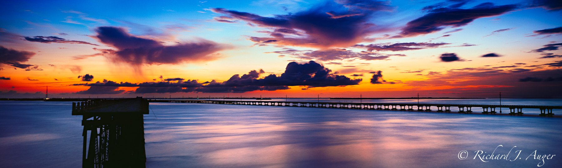 Bahia Honda Florida, Historic, Bridge, Sunset, Water, Panorama, Red, Sky, Blues, Photographer, Photo