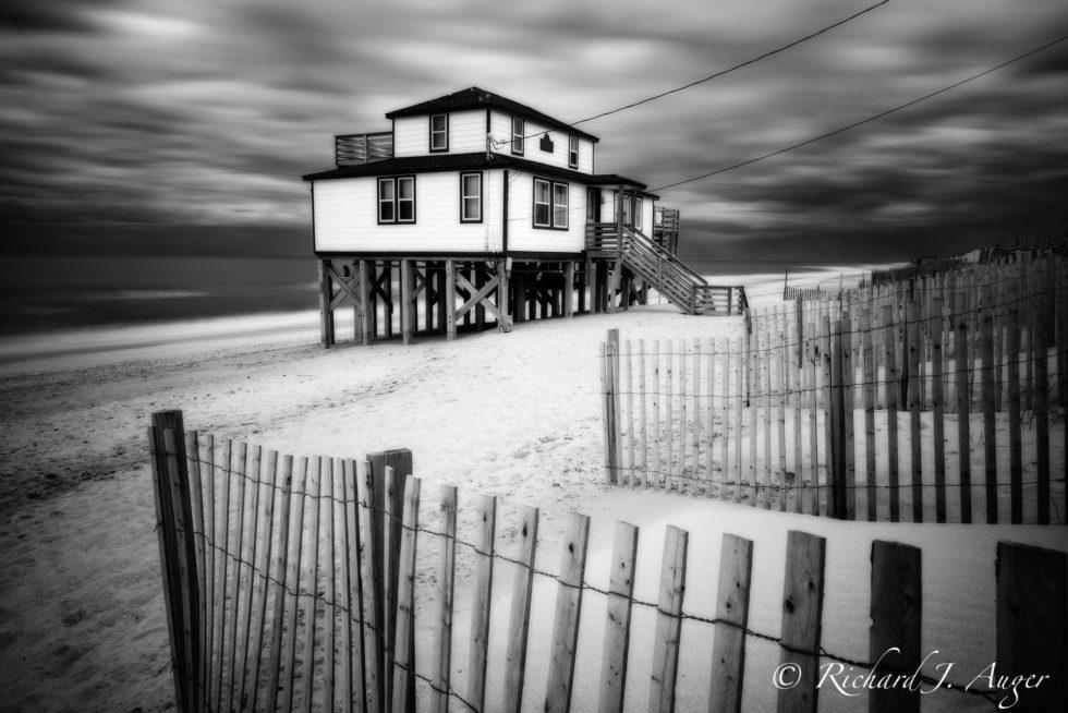 Outer Banks, North Carolina, Stilt House, Long Exposure, Spooky