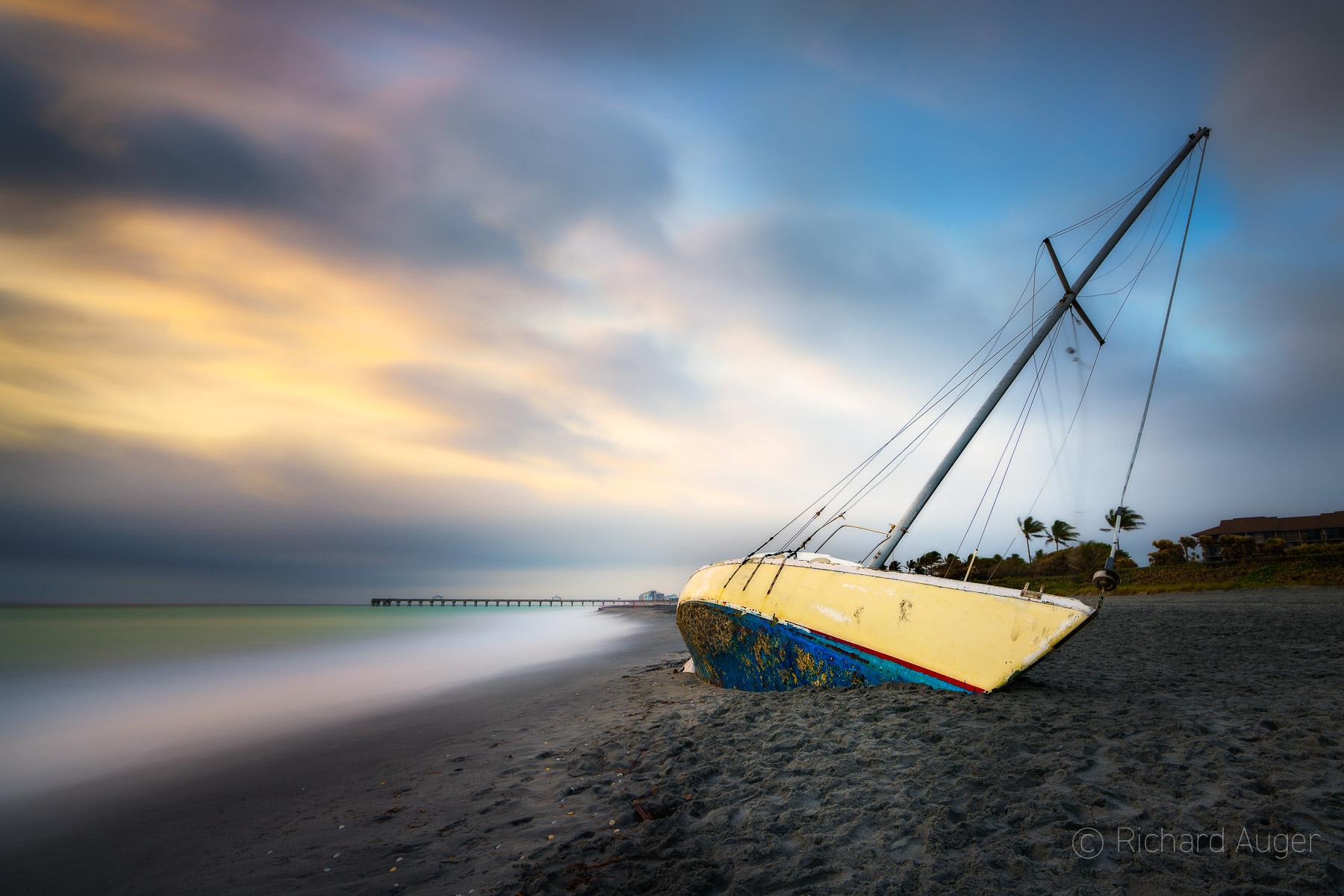 Shipwreck, Juno Beach, Florida, Long Exposure, Storm, Morning
