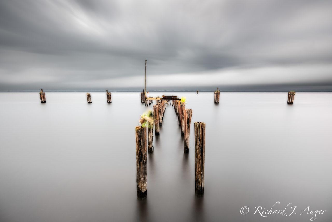 St Johns River, Lake Monroe, Florida, Pier, Sandford, Long Exposure, Time Lapse, Water, Lake, Photograph, Landscape