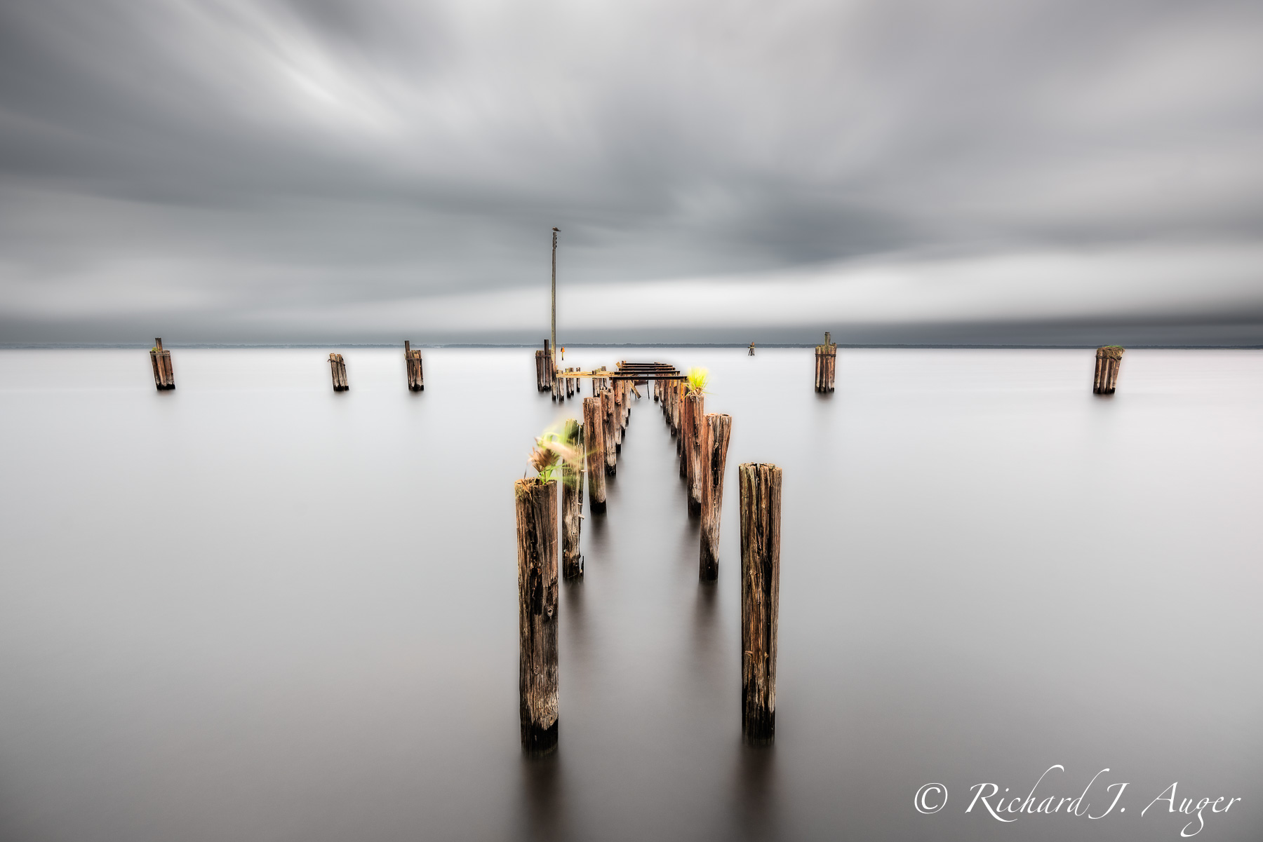 St Johns River, Lake Monroe, Florida, Pier, Sandford, Long Exposure, Time Lapse, Water, Lake, Photograph, Landscape