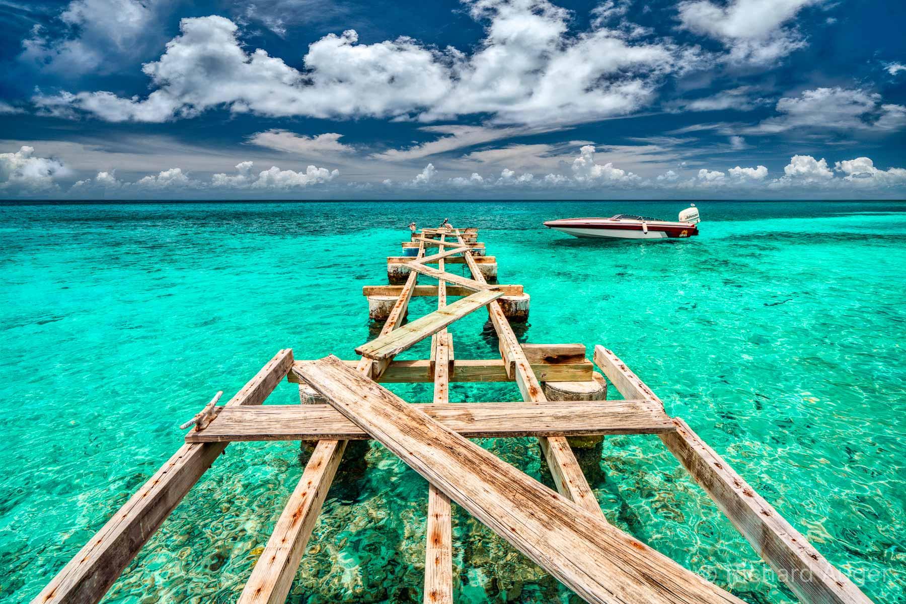 Dock, British Virgin Islands, Tropical, Powerboat, Ocean