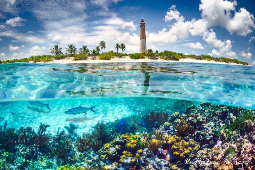 Loggerhead Lighhouse, Loggerhead Key, Dry Tortugas National Park, Little Africa Reef, Florida Keys, Ocean, Underwater, Landscape, Photograph, Photographer, Richard Auger